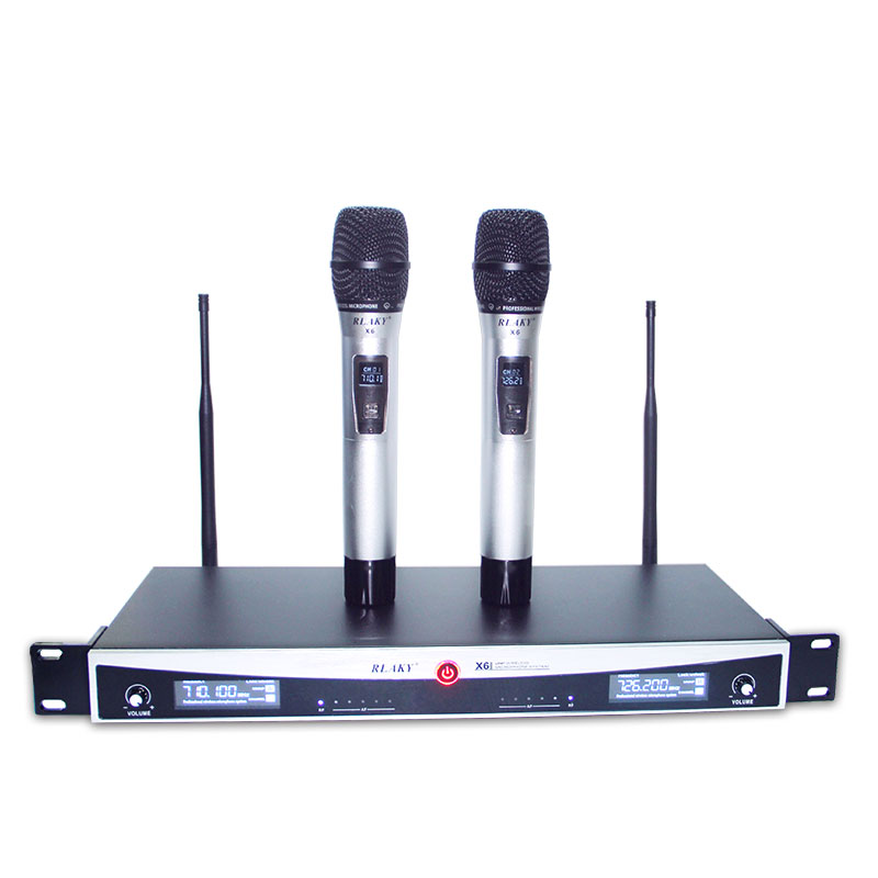 quality professional wireless microphone dual channel wireless microphone stage singing mic. Black Bedroom Furniture Sets. Home Design Ideas