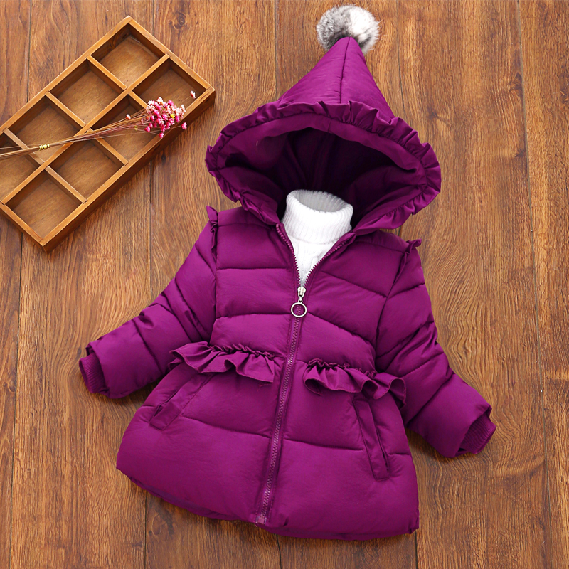 Baby Girls Winter Thickening Cotton Coat Children's Clothing Jacket Down Jacket Comfortable Cute Baby Clothes Children Clothing