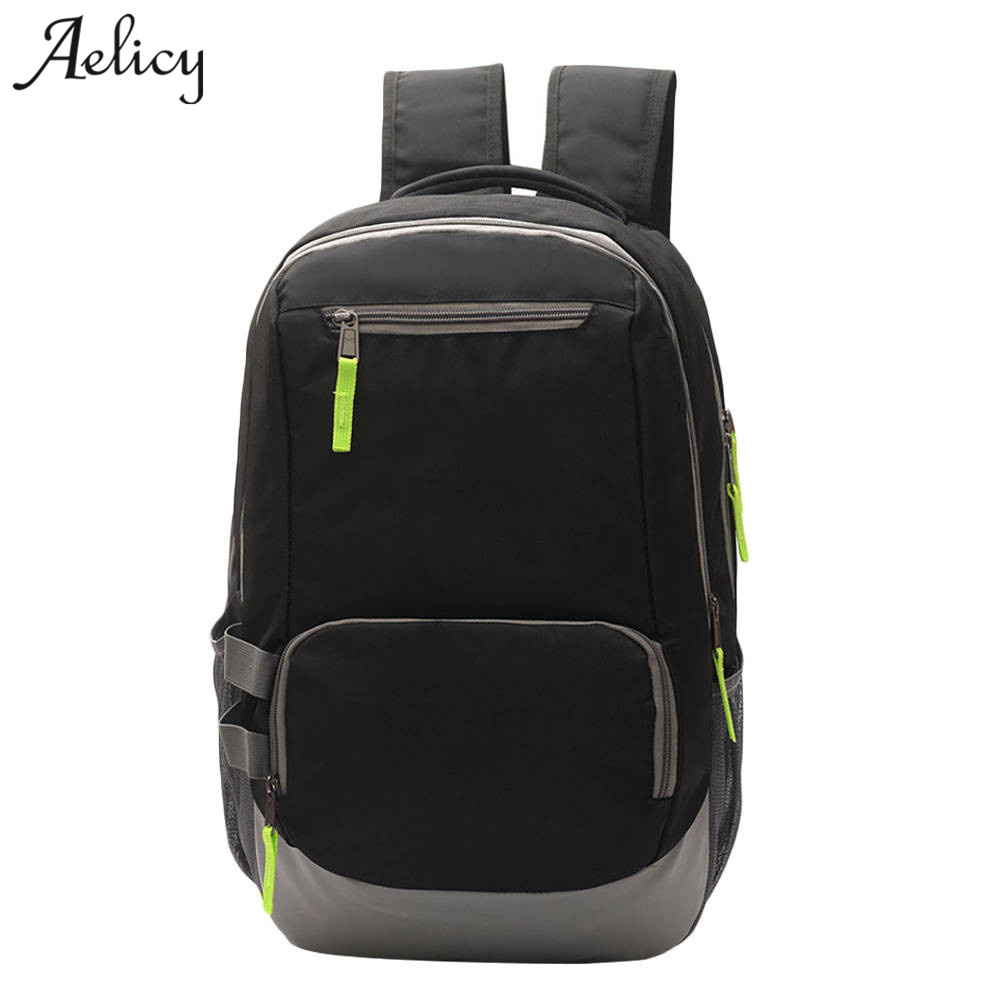 Aelicy Portable Fashion casual Travel Backpacks Soild Nylon Back Pack Daily Traveling Mens Backpack Bag Waterproof Rucksack 1017 ...