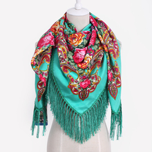 Fashion Big Size Floral Square Scarf