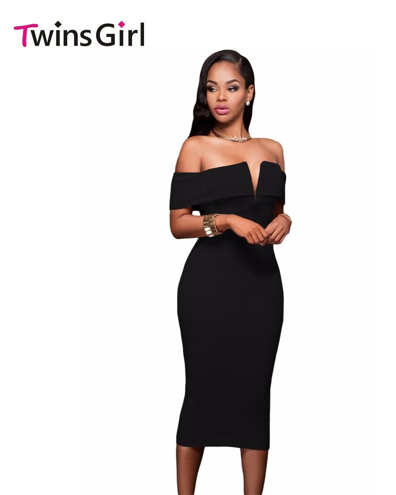 Novo 2016 mulheres party dress bodycon barra pescoço vestido de festa de  venda quente 2 cores off-the-ombro midi dress clubwear lc61221 84a78f5a125f2