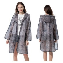 Long Lace  TPU Transparent Impermeables Raincoat Women Capa De Chuva,Rain Coat Poncho Trench Jaket Chubasquero Mujer