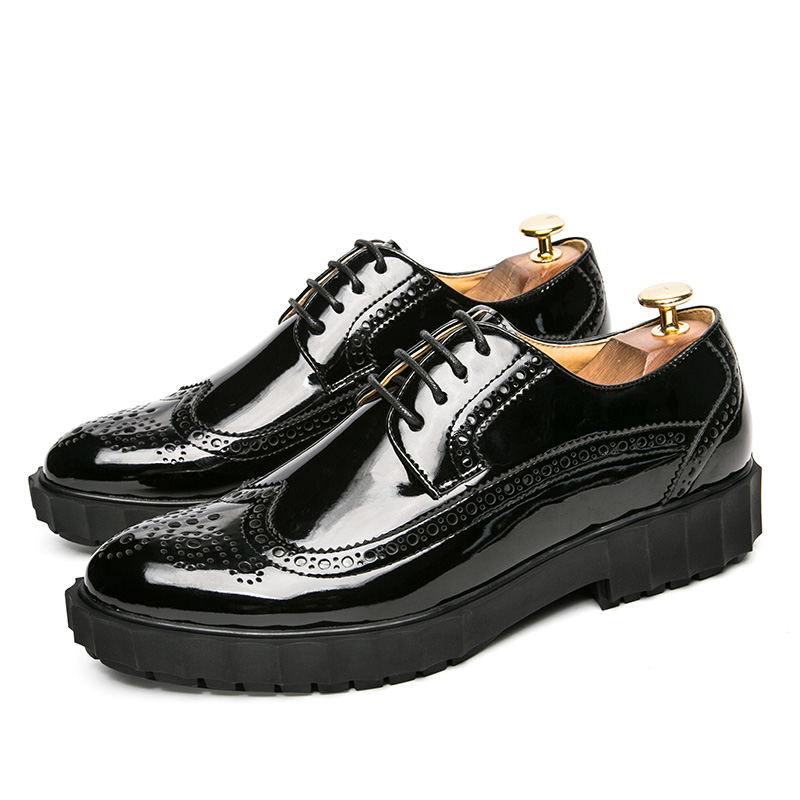 LAISUMK Men Leather Shoes Fashion Autumn Comfortable Men Casual Martin Shoes Denim Luxury Brand Men Breathable Flats Shoes in Oxfords from Shoes
