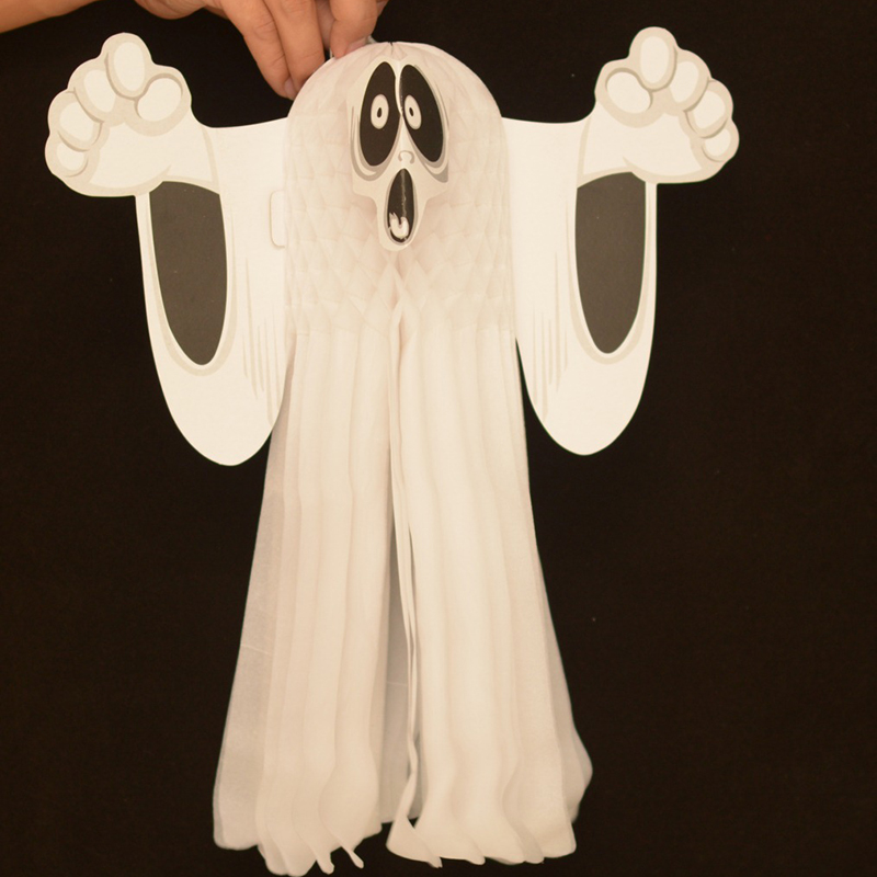 halloween scary props 3d ghost paper pendant diy home outdoor halloween decoration wall tree hanging ormament