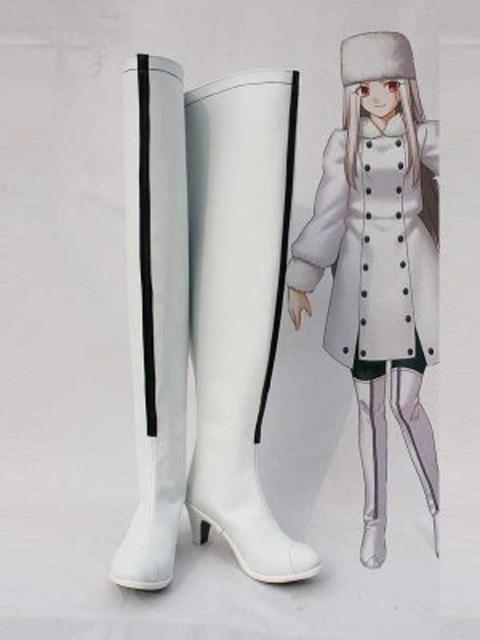Fate Zero Irisviel von Einzbern White Cosplay Boots