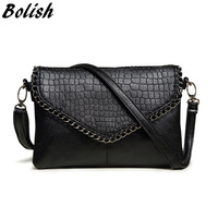 New Arrival Fashion Chain Stone Small Bag Double Strap Women Messenger Bags Soft PU Leather Crossbody