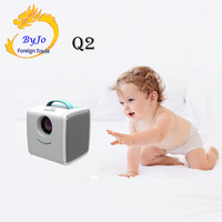 Q2 Projector Portable Projector Home Child Education Support USB HDMI TF AV