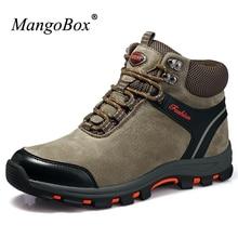 Mangobox 2017 Дизайнерская обувь Для мужчин высокие Для мужчин S Hiker boot противоударный армейские ботинки Для мужчин зимние прогулочные Ботинки для Для мужчин
