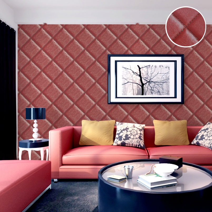 Aliexpress Imitation Leather Wallpaper Vintage Wall Paper Waterproof Thick Vinyl Retro For Sofa Background Black Brown From