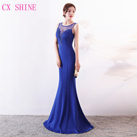 Evening dresses CX SHINE Lace flowers beaded sexy mermaid trumpet long prom  party dress elasticity robe ac3d68eb22ef