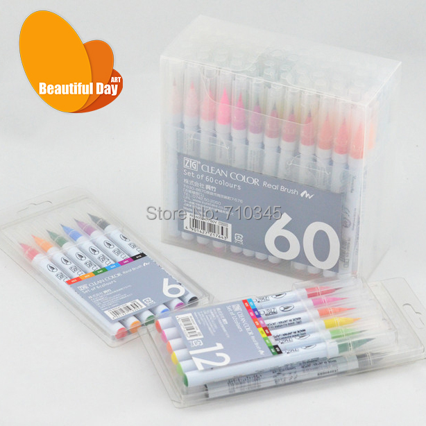 New Arrival!!! Japan KURETAKE clean real brush brush watercolor marker pen RB-6000AT