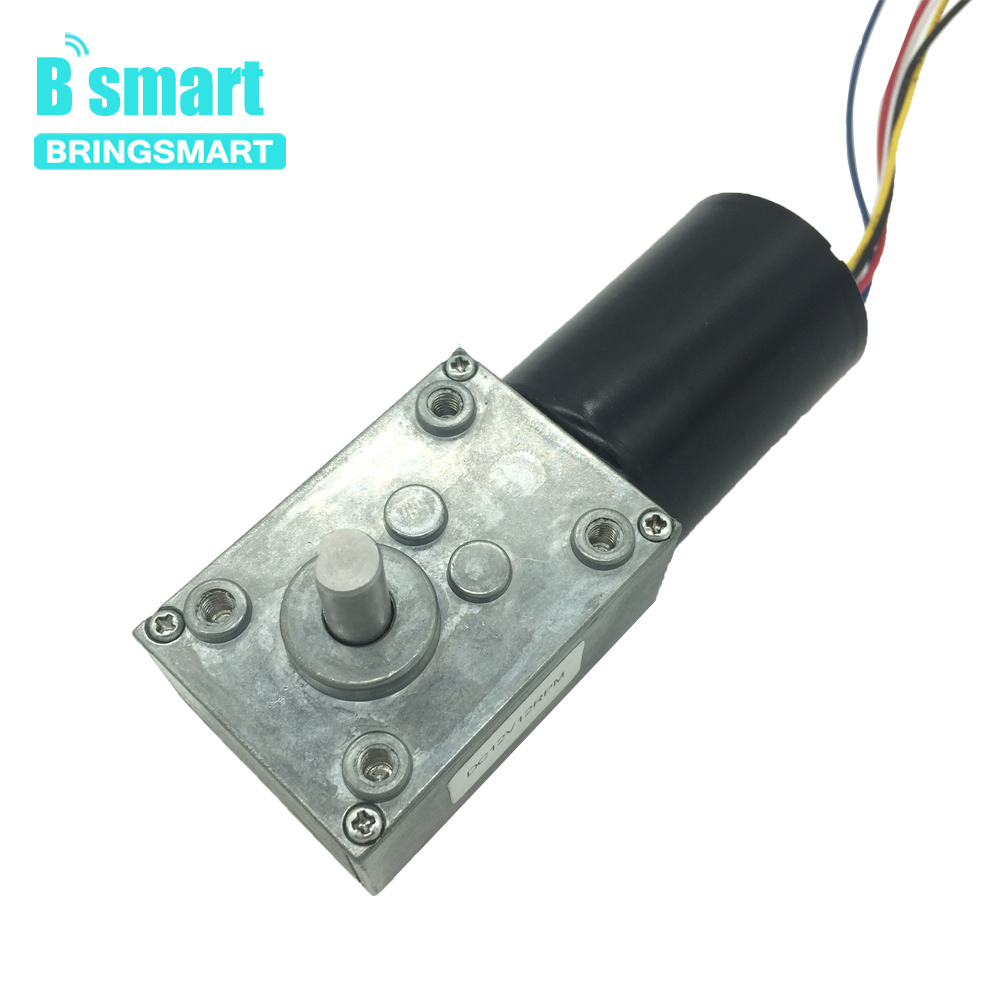 Bringsmart Turbine BLDC Motor 5840-3650 DC Worm Gear Motor Large Torque Self-locking 12V 24V Brushless Motor 16-170rpmBringsmart Turbine BLDC Motor 5840-3650 DC Worm Gear Motor Large Torque Self-locking 12V 24V Brushless Motor 16-170rpm