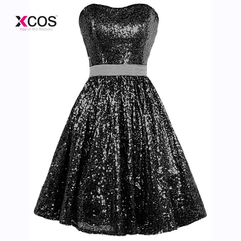 Sequin Cocktail Dress ... Abendkleider Full Sequins Short Prom Dresses Sweetheart Vestido De  Noche Rose Gold Sequins Cocktail Dress