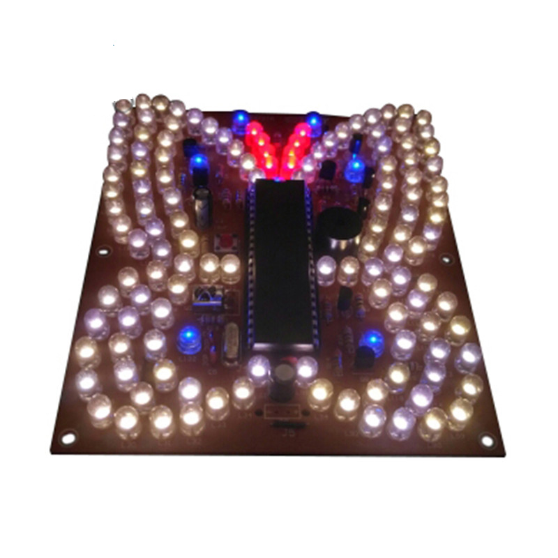 Music LED Light Butterfly Shape DIY Kit Remote Control Lighting Kits DIY Electronic LED Lamp Parts Electronic DIY Kit
