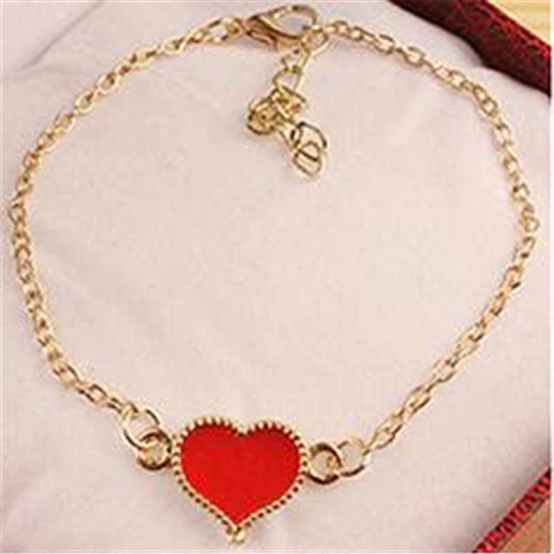 Precio especial Vintage dulce amor corazón goteo de aceite pulseras Oficina estilo dama regalos de boda para novias envío gratis 2019 nuevo