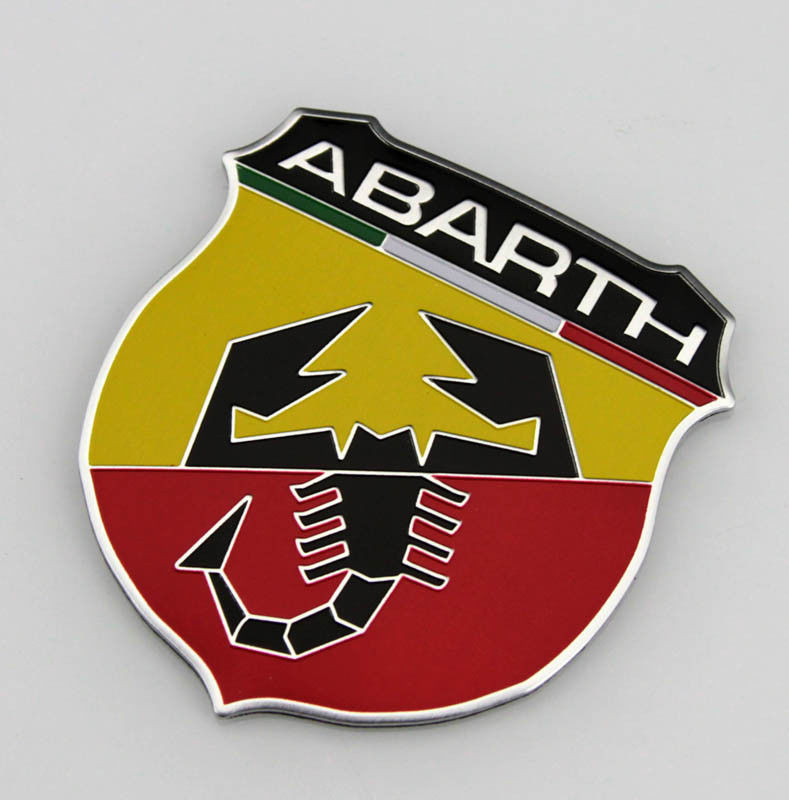 3D Metal Scorpion Shield Car Auto Badge Decals Emblem Fender Sticker for ABARTH Car Styling Auto Accessories Car Stickers 1x car styling 3d metal emblem car body side stripe fit camaro corvette colorado for licensed stickers 3d sticker badge emblem