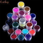 New Brand OutTop 45 Colors Nail Art Make Up Body Glitter Shimmer Dust Powder Decoration Manicure Glitter For DIY Nail Design
