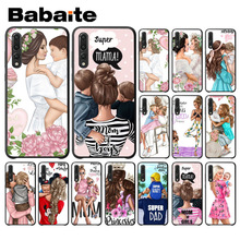 Babaite Family Boy Girl Mom Dad princess Baby Soft TPU Case for Huawei P10 plus 20 pro P20 lite mate9 10 honor view10