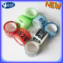 100 шт. пользовательские 8 мм Пластиковые голубь кольцо для гоночных по почте