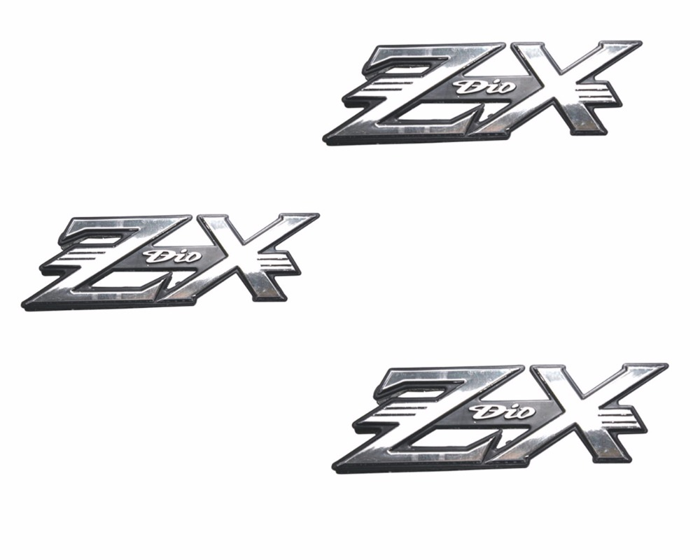 Motorcycle Stickers Motorcycle Plastic solid Body Stickers Motorcycle plating body stickers Gold/silver color for Honda DIOZX