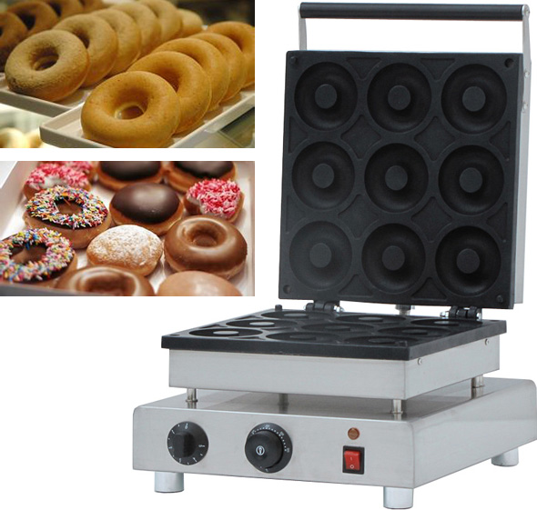90mm big size donut waffle machine, Automatic Electric Mini commercial donut making machines donut making frying machine with electric motor free shipping to us canada europe