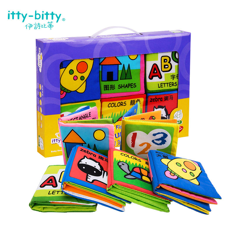 Baby Soft Stuffed Cloth Book Toys Hobbies Baby Rattles Learning Education Reading Handmade Cloth Book 0-12 Months Baby Toy