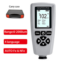 EC 770S coating paint thickness gauge AUTO tester F&NF range 0 2000um coating thickness tester Width Measuring