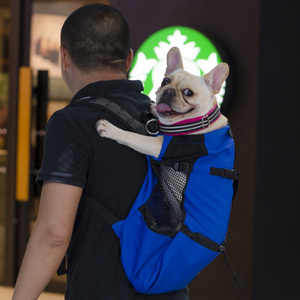 Image 3 - 通気性のペット犬大型犬ゴールデンレトリバーのためのブルドッグリュック調節可能なビッグ犬の旅行用バッグペット製品