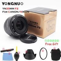 Yongnuo 35mm lens YN35mm F2.0 lens Wide angle Fixed dslr camera Lens For canon 600d 60d 5DII 5D 500D 400D 650D 600D 450D 60D 7D