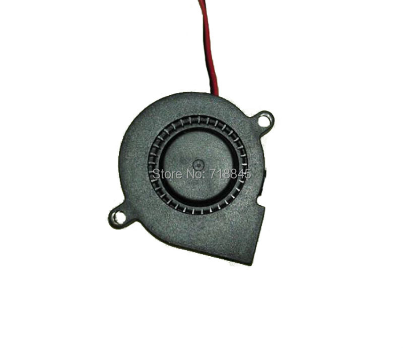 Black Brushless DC Cooling Blower Fan 2 Wires 2Pin 5015S 12V 0.14A 50x15mm P4PM 5010s dc 12v 0 1a brushless cooling fan 4 2cm diameter