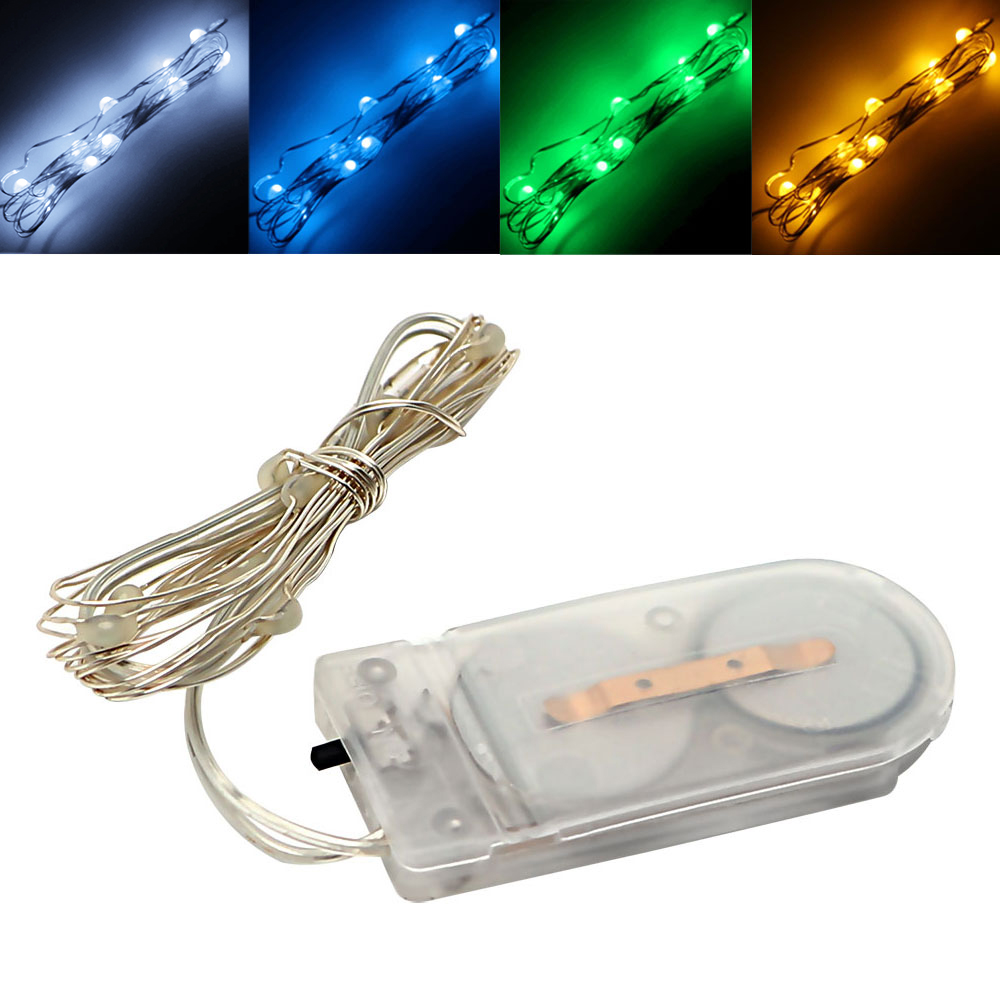 Itimo Led String Light Mini Button Battery Holiday Lighting 10 Leds Wiring In Series Christmas Copper Wire Home Party Decoration Flasher Strings From