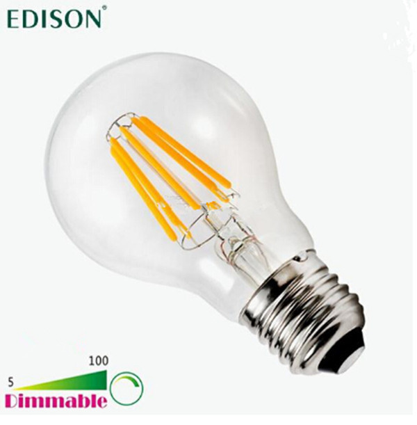 new dimmable edison cob filament globe light e27 led 110 240v 4w 6w 8w led bulb lamp vs 60w 80w. Black Bedroom Furniture Sets. Home Design Ideas