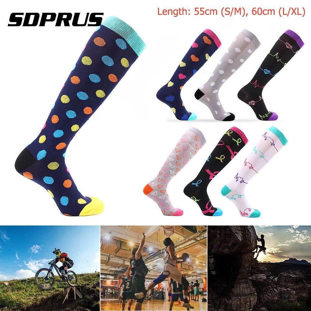 Multi-color Women/Men Magic Compression Socks Medical Varicose Veins Compression Socks Running Football Long Thigh High Socks