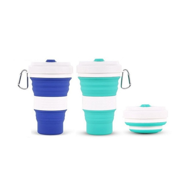 550 Ml Collapsible Silicone Coffee Cup Bpa Free Fda Roved For Outdoors Camping Hiking Picnic Folding