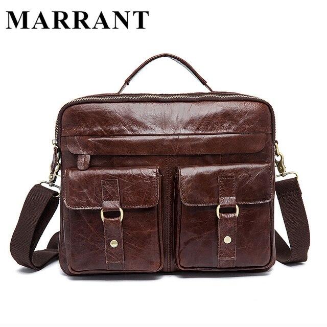 MARRANT Genuine Leather Men Bags Crazy Horse Leather Male Bag Men's  Briefcase Shoulder Bags Man Messenger Cross Body Handbags