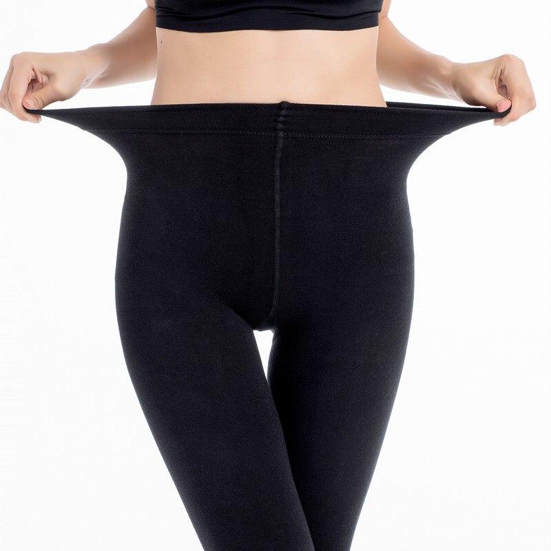 7ba47486e 2019 Mulheres 150D Microfibra Calças Inverno Quente Velo Térmico Forrado  Mulheres Meia-calça Meia-
