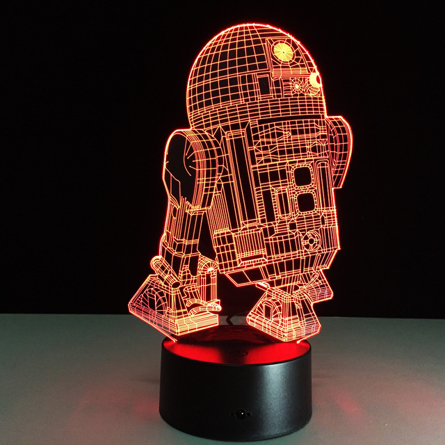 Star Wars Warship Led Light Baby Children Toys 3D Illusion LED Night Lights Color Changing Acrylic Table Lamp For Christmas Gif