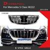 新 S クラスメルセデスベンツ W222 セダンクロームフロントレースグリル 2015-2018 S320 S400 S350 S500 s450 偉大な装備
