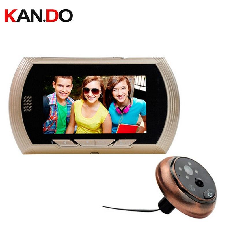 """4.3 """"Smart drzwi wizjer widz nagrywania wideo drzwi kamera IR Night Vision czujnik ruchu PIR nie przeszkadzać funkcję wideodomofon w Wideodomofony od Bezpieczeństwo i ochrona na AliExpress - 11.11_Double 11Singles' Day 1"""