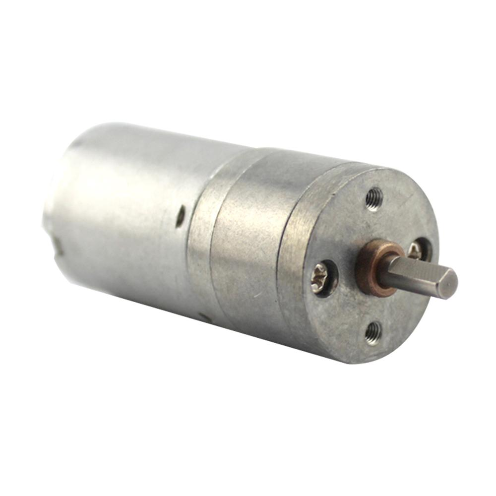 1pc Electrical Gear Box Motor 6v DC 133RPM 4mm Shaft Diameter High Torque Mini Electric Geared Box Metal Alloy Motors 25*52mm