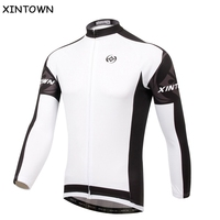 XINTOWN White Cycling Jersey Mountain Bike Long Sleeve Clothing / Jacket / Sport Riding Racing Clothing