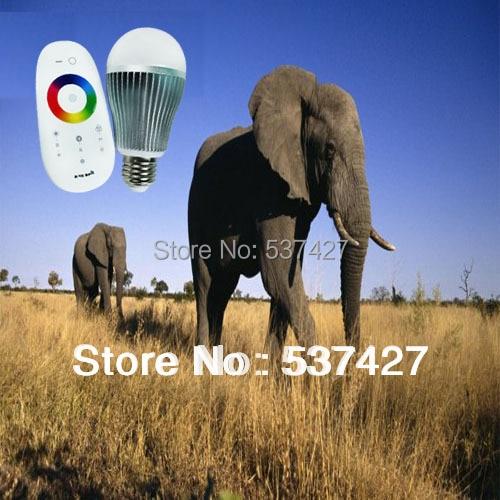 6W AC85~265V Input Wireless Remote Control RGB LED Bulb E27 Base Smart Home Use, 180 degree view angle