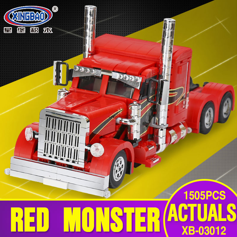 XingBao 03012 1505Pcs Genuine Technic MOC Series The Red Monster Set Children Educational Building Blocks Bricks Toys Model Gift moc 8881 model building blocks set toy technic funny building bricks block kids toys cheap educational toys for children