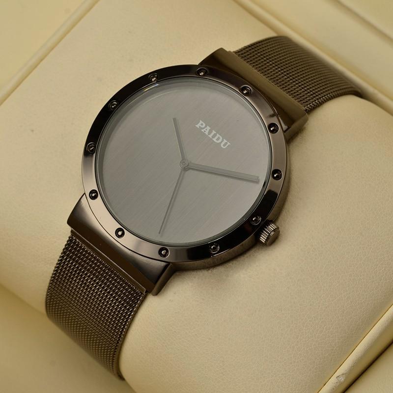 Paidu Fashion Luxury Wrist Watch Men Women Watches Full Steel Men's Watch Women's Watches Clock Reloj Mujer Reloj Hombre Relogio