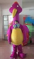 Latest di alta qualità 100% fucilazione in contanti viola drago mascotte costume adulto mascotte drago Vacanza speciale abbigliamento