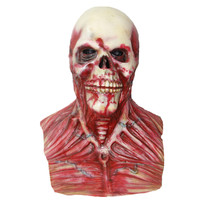 X MERRY Scary Devil Zombie Mask Halloween Cosplay Party Horror Monster Skull Latex Fancy Skeleton Prop
