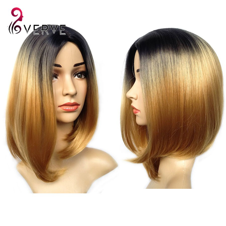 Synthetic Wigs For Black Women Mix Color #P1B/30 Short Synthetic Wigs ...