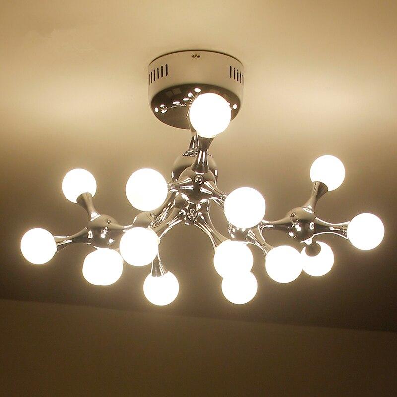 Post modern LED bedroom ceiling lights living room ceiling lighting home deco fixtures Glass ball illumination loft ceiling lamp in Ceiling Lights from Lights Lighting