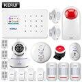 KERUI G18 GSM сигнализация системы безопасности домашняя охранная сигнализация Android IOS приложение дистанционное управление Alarmas De Seguridad Para Casa