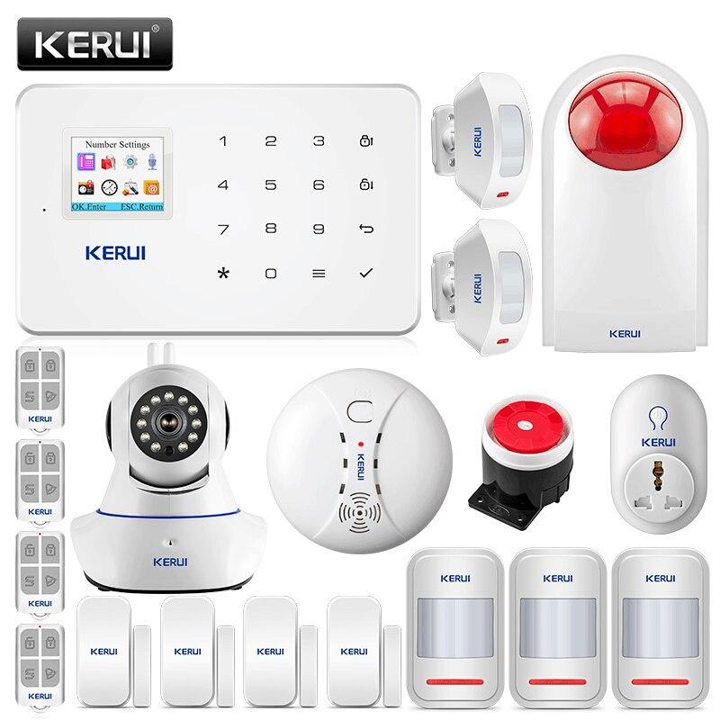 KERUI G18 GSM Alarm Systems Security Home Burglar Alarm Android IOS App Remote Control Alarmas De Seguridad Para Casa